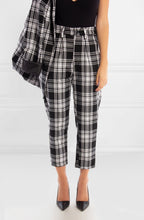 Load image into Gallery viewer, Monochrome Check Suit Trousers