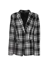 Load image into Gallery viewer, Monochrome Check Suit Blazer