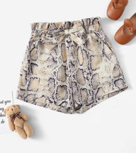 Load image into Gallery viewer, Snakeskin Print Shorts (Beige)