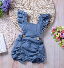 Load image into Gallery viewer, Denim Princess Romper
