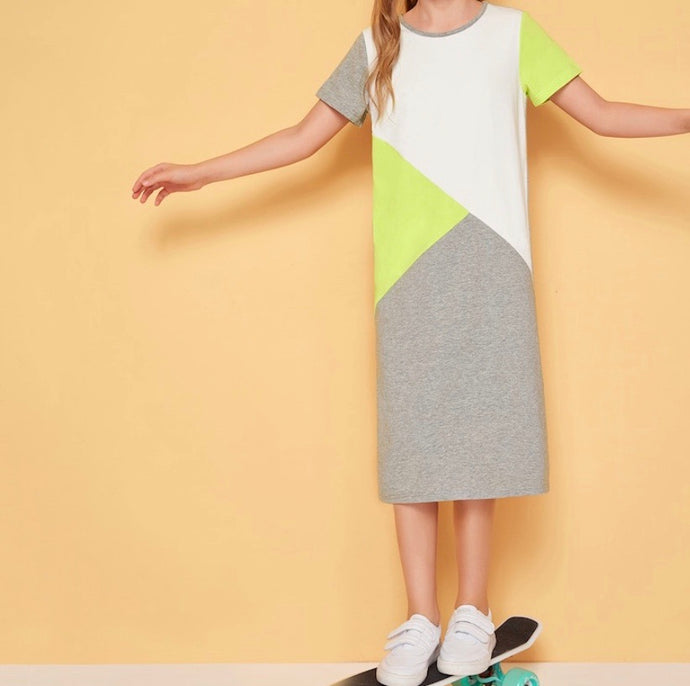 Color Blocked Maxi