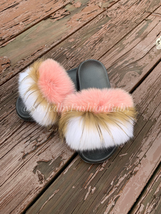 Mommy's Fuzzy Wuzzy Slides-Pink Lemonade