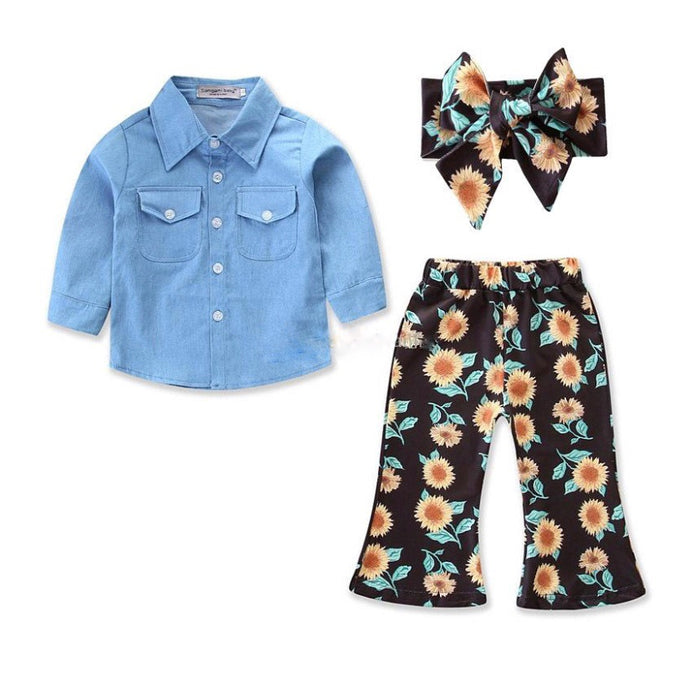 Denim Sunflower Set