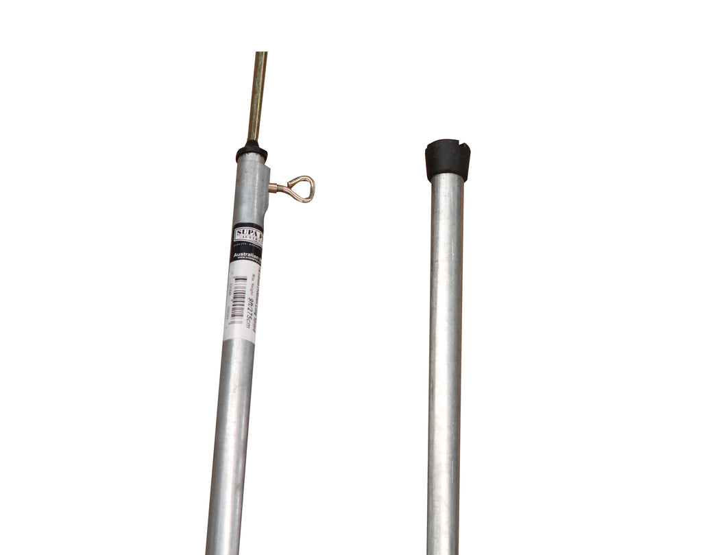 TENT POLE Galvanised | Tube Diameter 19 - 22.2mm | Tee nut & Thumbscrew  (Choose Fitting & Length)