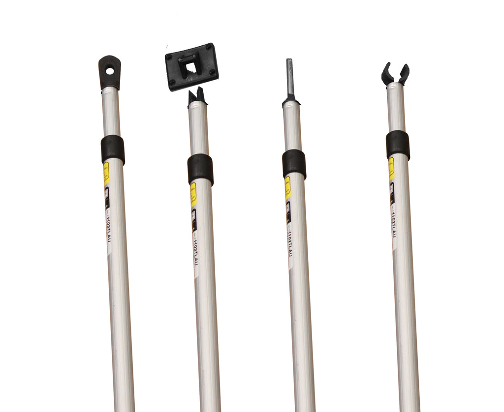 SPREADER POLE Aluminium | 22.2 - 25.4mm | Twistlock 3D Cam (Choose Fitting & Length)