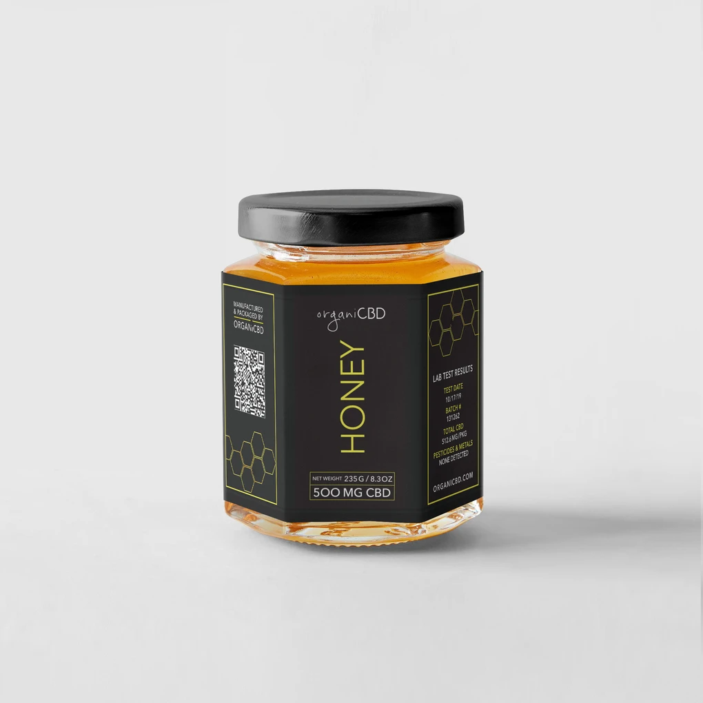 OrganiCBD Honey: 500mg