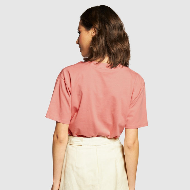 Apéro Embroidered Tee - Dusty Pink/ Cream