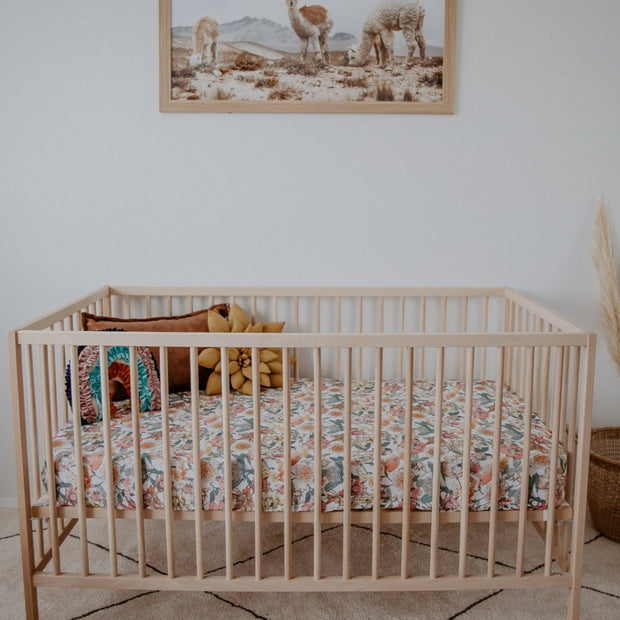 Fitted Cot Sheet - Australiana