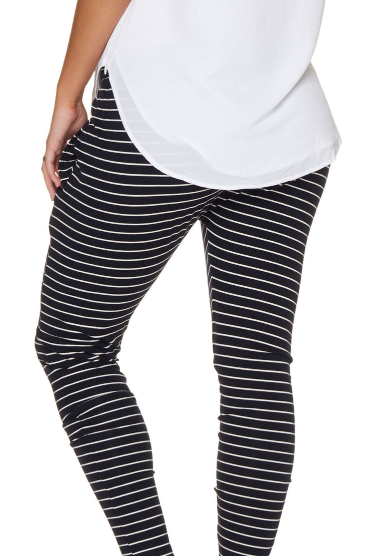 Beating Heart Lounge Pant - Navy Stripe
