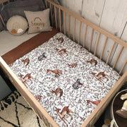 Muslin Cot Sheet - Creatures Of The Woods