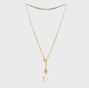 Grazia Pearl Lariat Necklace