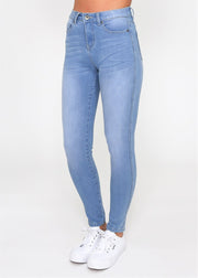 Khloe High Rise Skinny Leg Jeans - Blue Wash