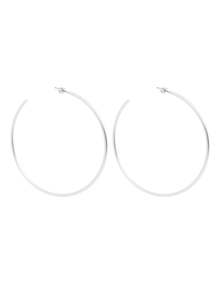 La Paz Fine Statement Hoops - Silver