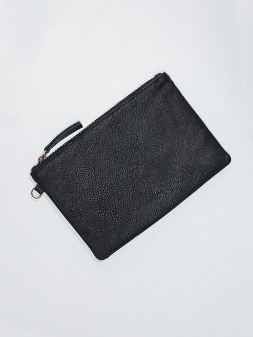 LARGE POUCH - Black Leather
