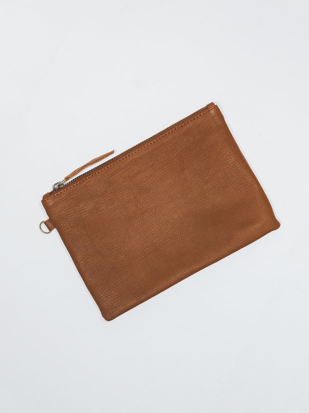 LARGE POUCH - Tan Leather