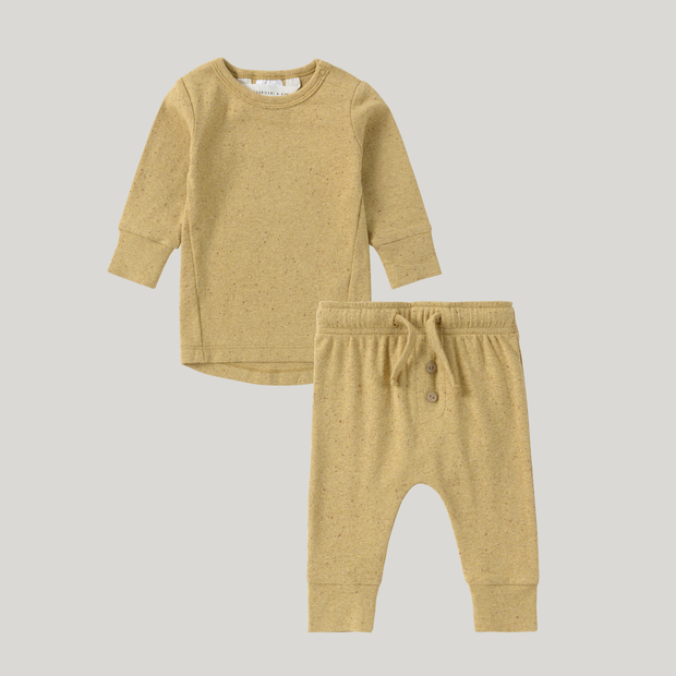 Organic PJ's Long Sleeve Pant Set - Ginger Speckled
