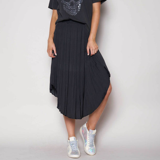 The Others - Pleated Elastic Waist Skirt