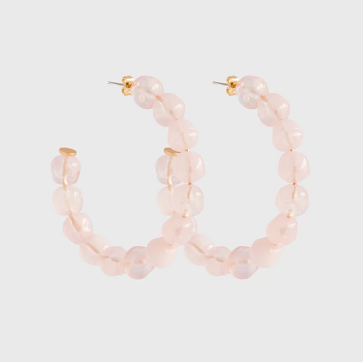 Sara Resin Hoops - Pink