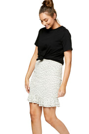Utopian Shirred Skirt - Leopard