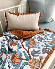 Cot Quilt Reversible - Wattle and Gum