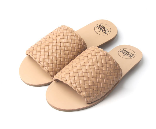 Willow Weave Mummy Slides - Salted Caramel