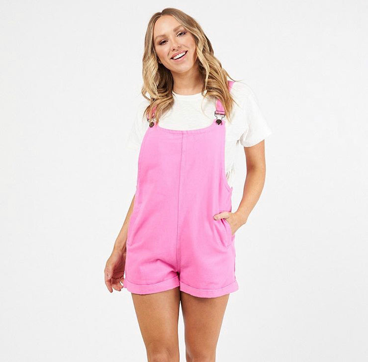 Harlow Overalls - Hot Pink
