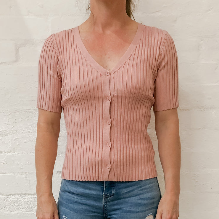 Stella Knit Top - Blush
