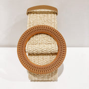 Woven Stretch Belt - Cream