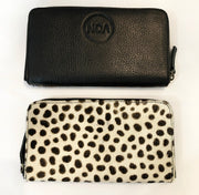 ZIP IT WALLET - White Brown Spotty