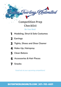 Competition Prep Checklist