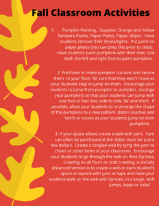 Fall Classroom Activities