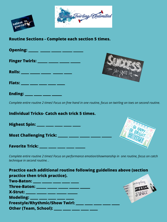 Practice Guide For Twirlers