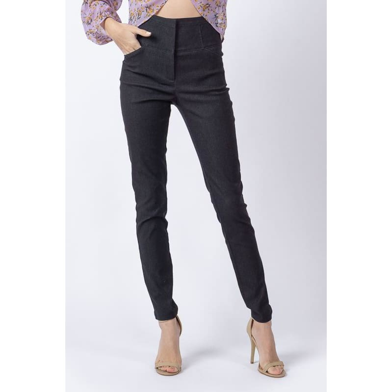 High Waist Skinny Pants - Haute Lava