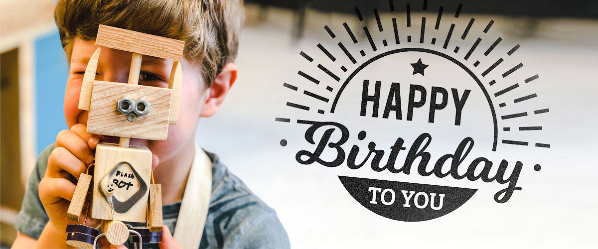 Mini Maker craft birthday parties at Ash & Co. Workshops