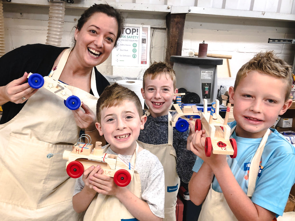 Scrappy Races fun family woodcraft workshop