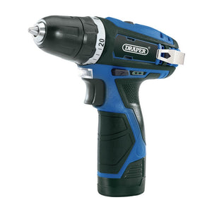 Draper Cordless Drill and Screwdriver in Blue with Black Handle