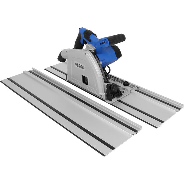 Draper 165mm Plunge Saw with 2 x 700mm Guide Rails