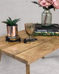 Small Coffee Table, Oak and Walnut