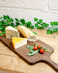 Handmade personalised cheese board in solid walnut