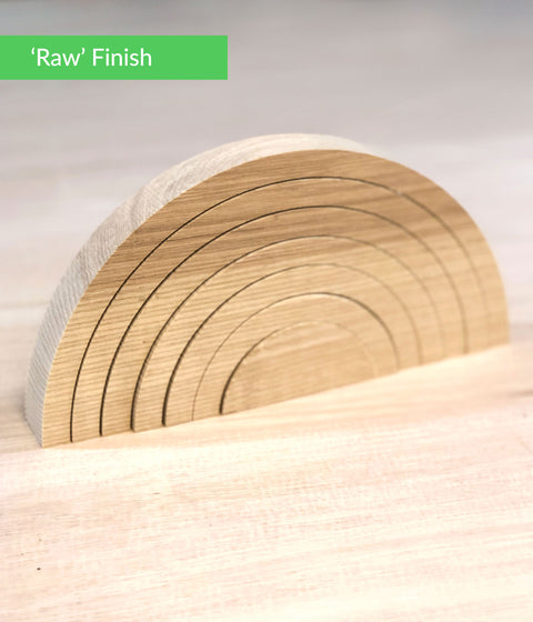 Raw finish wooden rainbow making kit