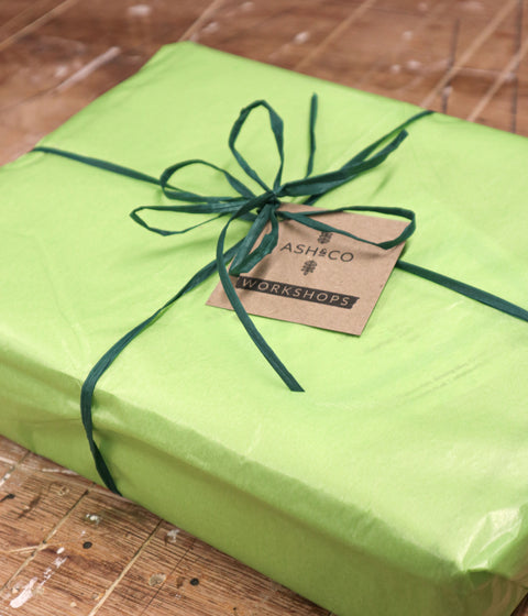 Eco gift wrapping option for all your mini-maker kits from Ash & Co. Workshops