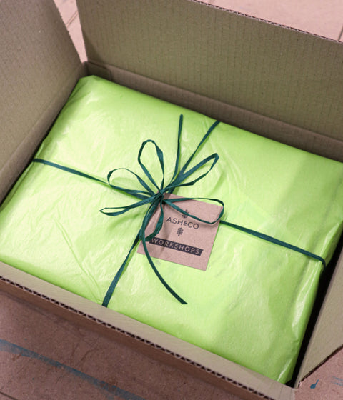 Gift wrapping service available from Ash & Co. Workshops for all Mini-Maker, woodworking and tool kits