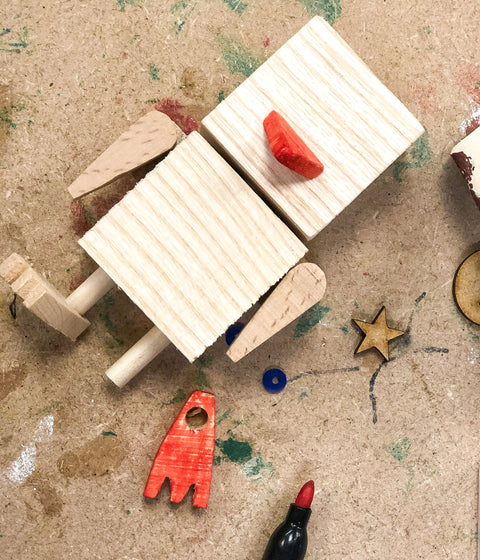 Design and build a Cheeky Chick with this fun woodworking mini-maker kit