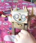Fun creative activity for kids to design and build their own wooden animal