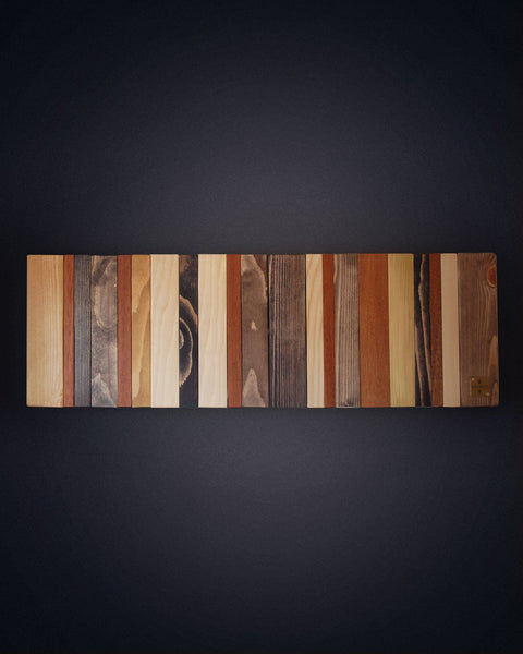 Contemporary Wooden Coat Rack, Reclaimed Wood