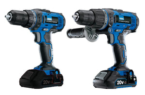 Draper Storm Force 20V Double Pack Deal - Combi Drill and Impact Driver Kit