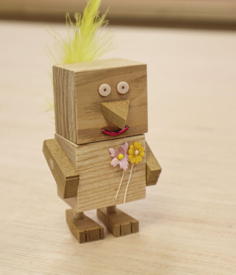 Ash & Co Workshops Cheeky Chick character building woodwork for kids kit