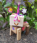 Build a magical unicorn from wood and creative accessories