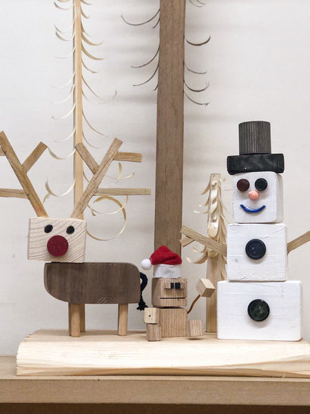 Christmas craft workshops for kids - make a wooden character