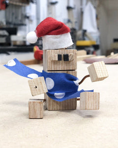 Make a wooden Christmas character